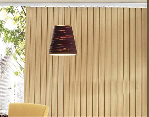 Rèm được cấu tạo từ những tấm lá dọc xếp cạnh nhau